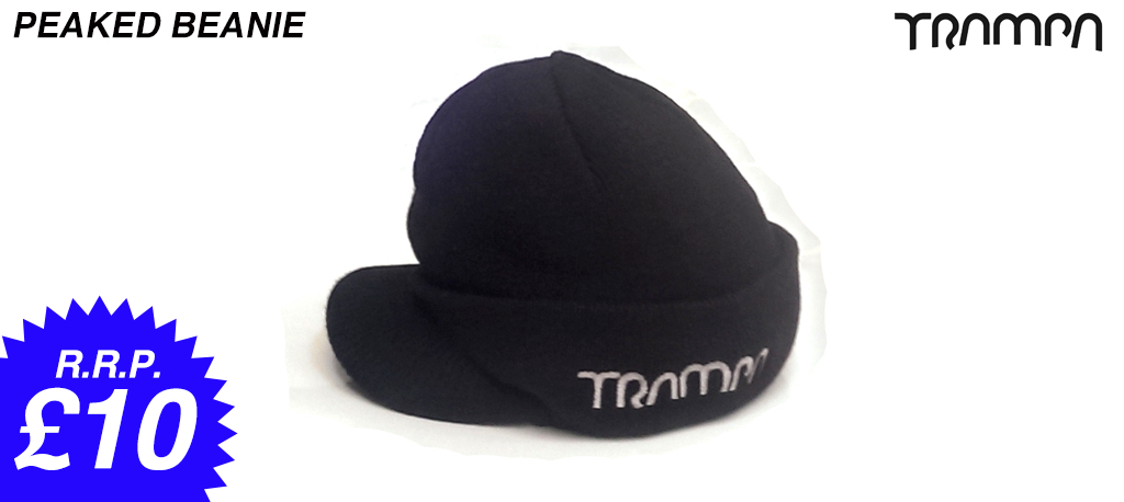 PEAKED Wolli hat with turn up at rear - TRAMPA Embroidered on side