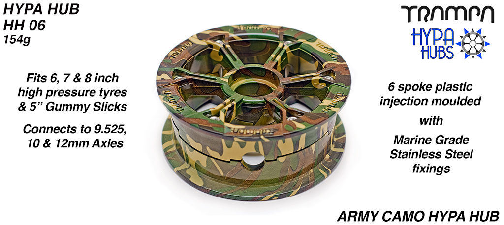 ARMY Camo HYPA HUB - Including Nuts, Bolts & Bearing Spacer.