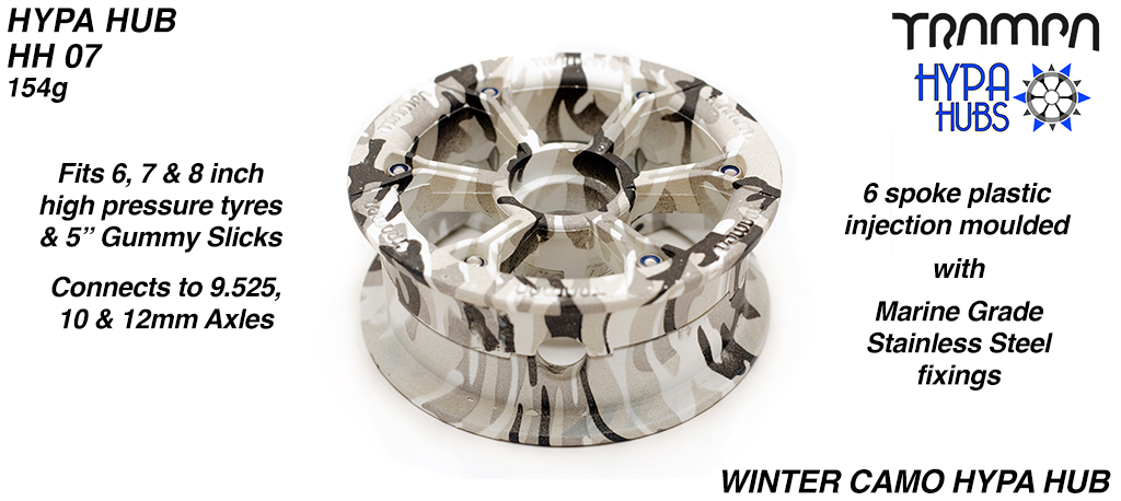 WINTER Camo HYPA HUB - Including Marine Grade Stainless Steel Nuts & Bolts