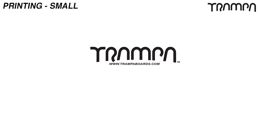 Embroidery - Small TRAMPA logo on the front of a Hoodie or sweatshirt