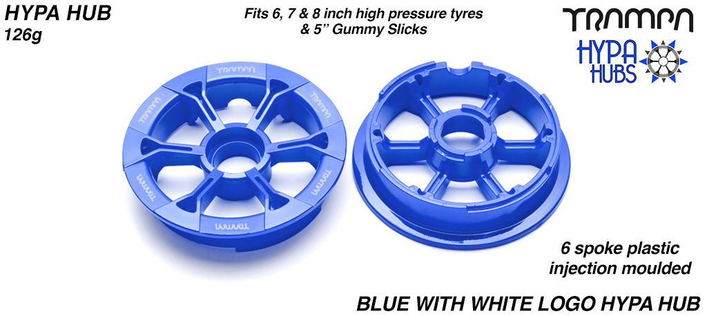 BLUE Gloss with WHITE logo's HYPA Hub