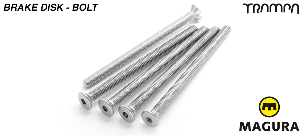 Brake disk Bolt kit - 5 bolts = 1 disk - M4x52.5mm countersunk