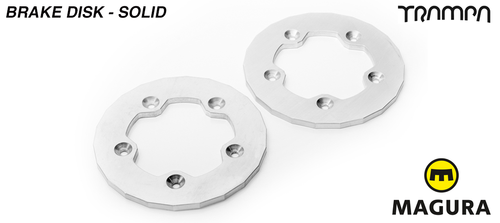 Pair of Solid Brake disks to fit SuperStar wheel