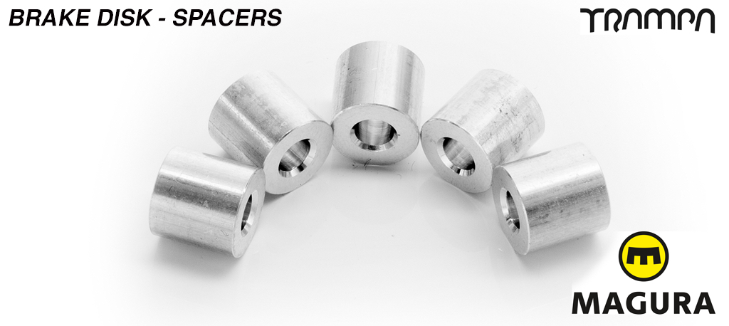 Brake disk to Superstar wheel spacer- for mounting a brake disk to a wheel - set of 5 (1 wheel)