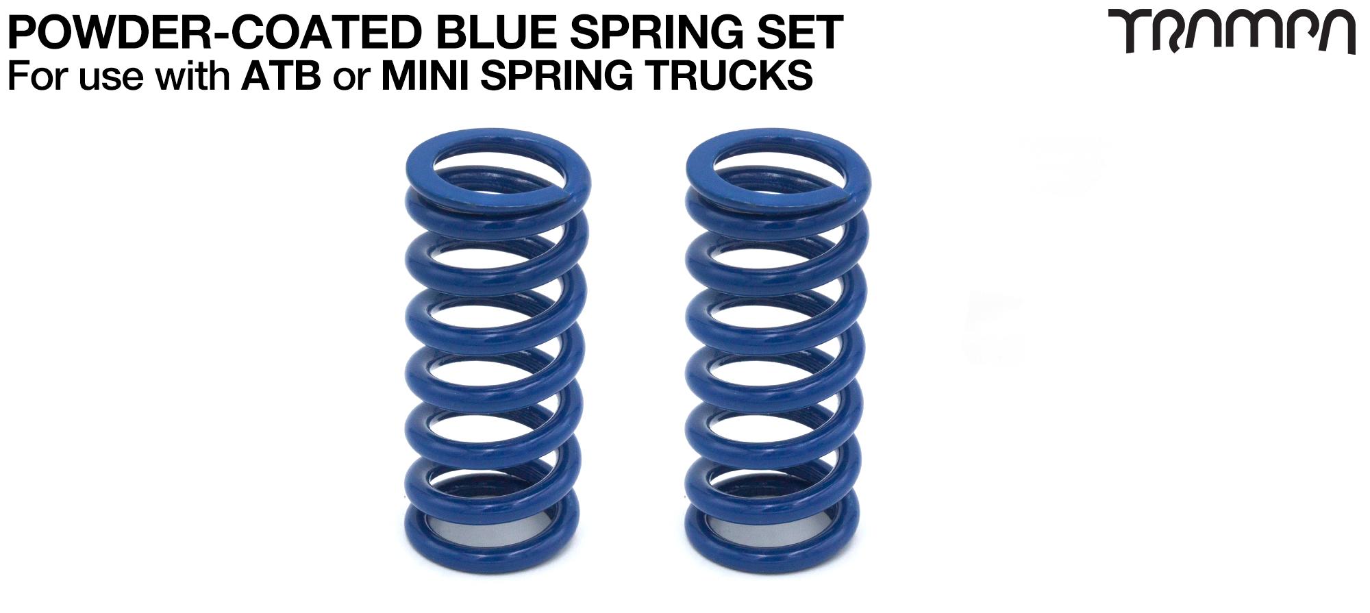 BLUE Powder coated Steel Springs x2