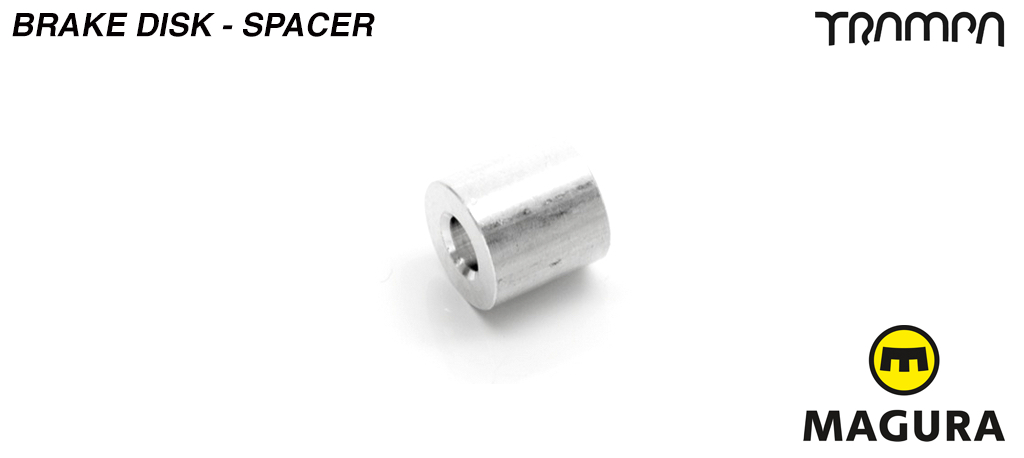 Brake disk support spacer - fits between the spoke and the disk (part e)