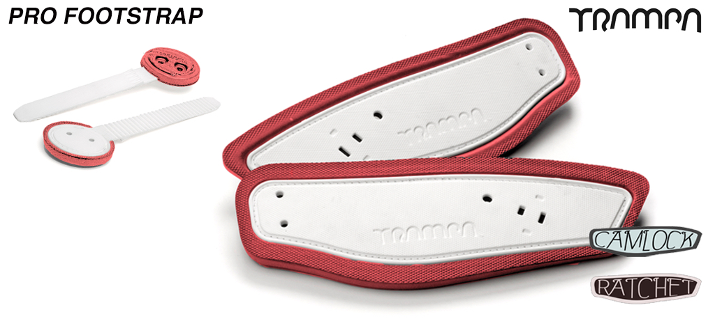 White Strap with Red Foam Footstraps