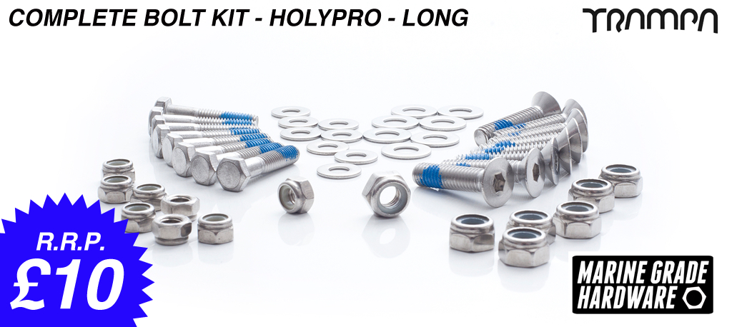 Complete deck Holy Pro bolt kit - 17ply decks only