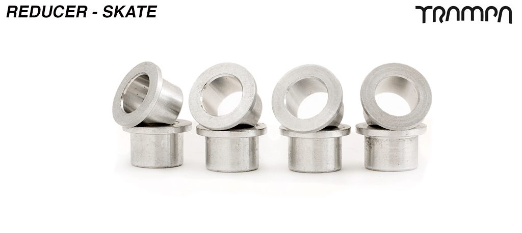 8 x Bearing conversion spacers - to fit to 9.55mm (7/16ths UNC imperial) axles on skate trucks