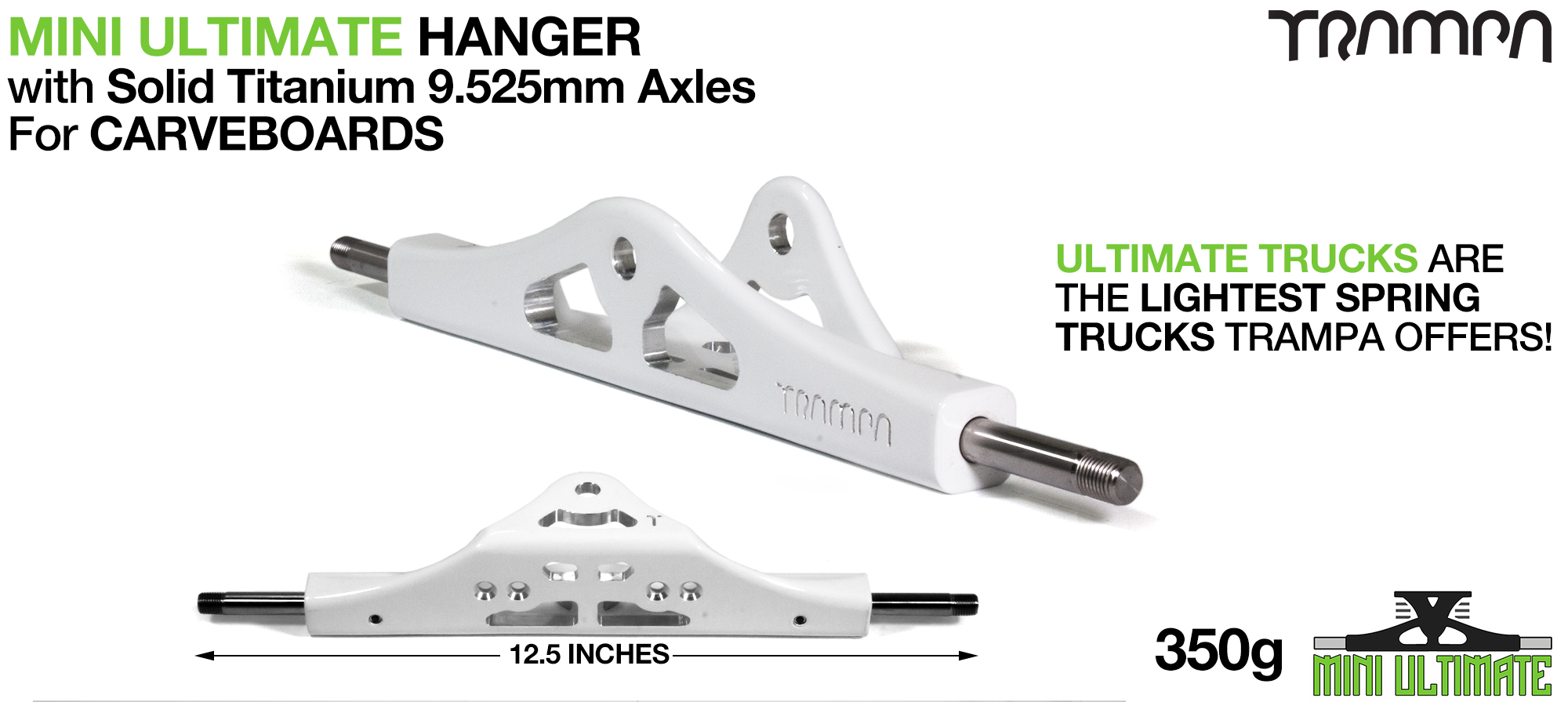 Mini ULTIMATE Hanger - 9.525mm TITANIUM Axles (+£75)