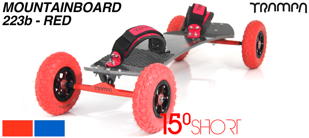 15º HOLYPRO TRAMPA deck on 12mm HOLLOW axle Skate Trucks with SUPERSTAR wheels & LUXURY velcro Bindings - 223b MOUNTAINBOARD