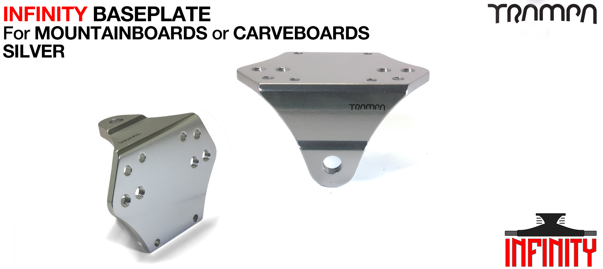 INFINITY Baseplate Silver - Fits ATB & CARVE Extruded T6 Aluminum Anodised & CNC precision Milled
