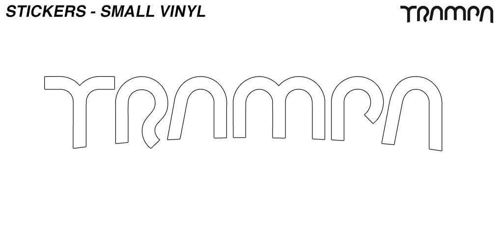 White TRAMPA Stickers Please