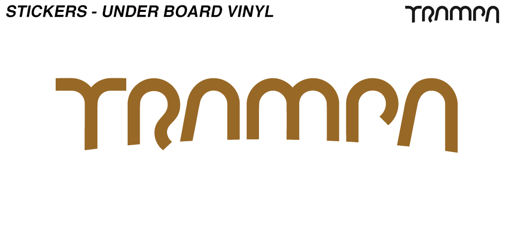 580mm Under Board Hand made TRAMPA Vinyl Sticker - BRONZE