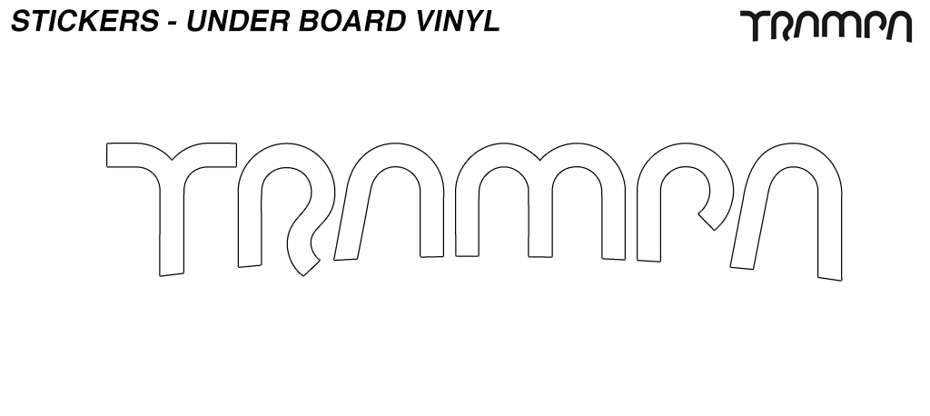580mm Hand made TRAMPA Vinyl Sticker - WHITE