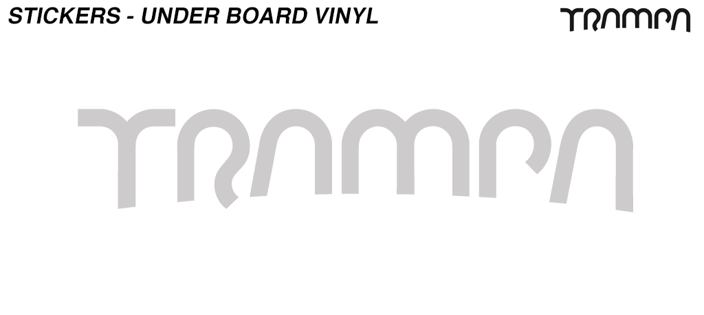 580mm Under Board Hand made TRAMPA Vinyl Sticker - CHROME