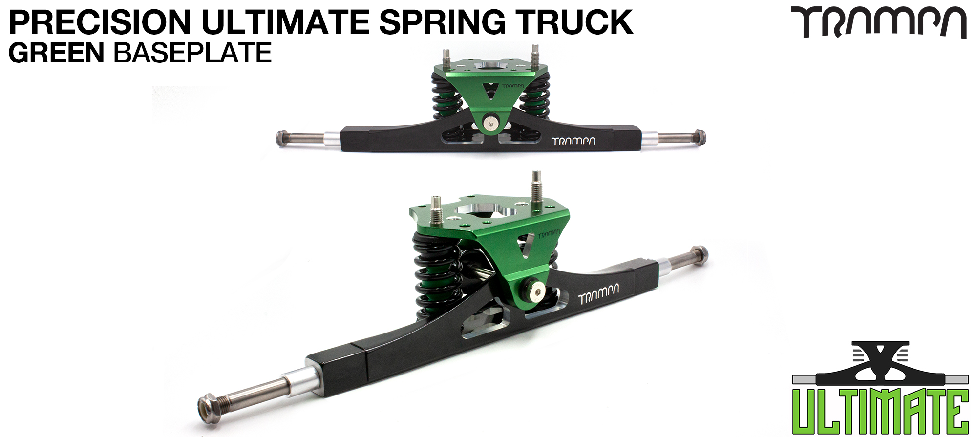 Precision CNC ULTIMATE ATB TRUCK with CNC Motor Mount fixing points, BLUE Baseplate, TITANIUM Axles & Kingpin