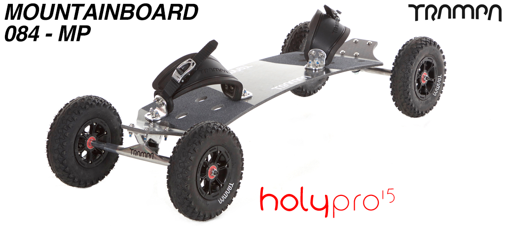 15º Holy Pro TRAMPA Deck on 10mm HOLLOW axle Trucks with HYPA Hubs on MUD-PLUGGER Tyres - 084 MOUNTAINBOARD
