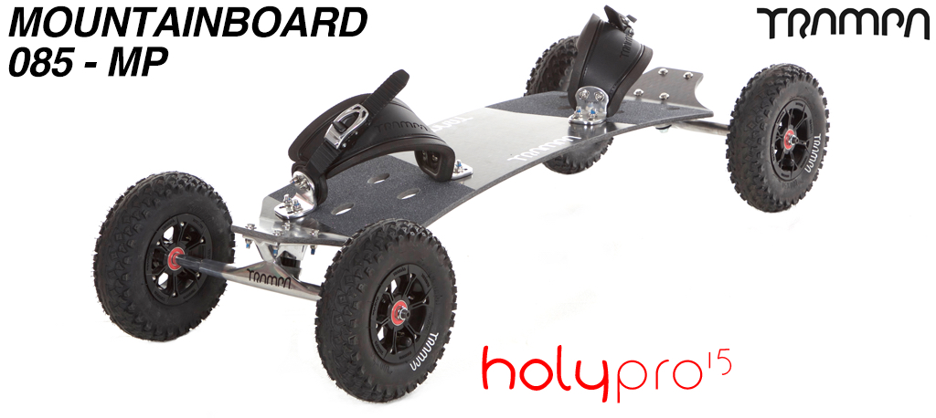 15º Holy Pro TRAMPA Deck on 10mm HOLLOW axle Trucks with SUPERSTAR Hubs on MUD-PLUGGER Tyres - 085 MOUNTAINBOARD