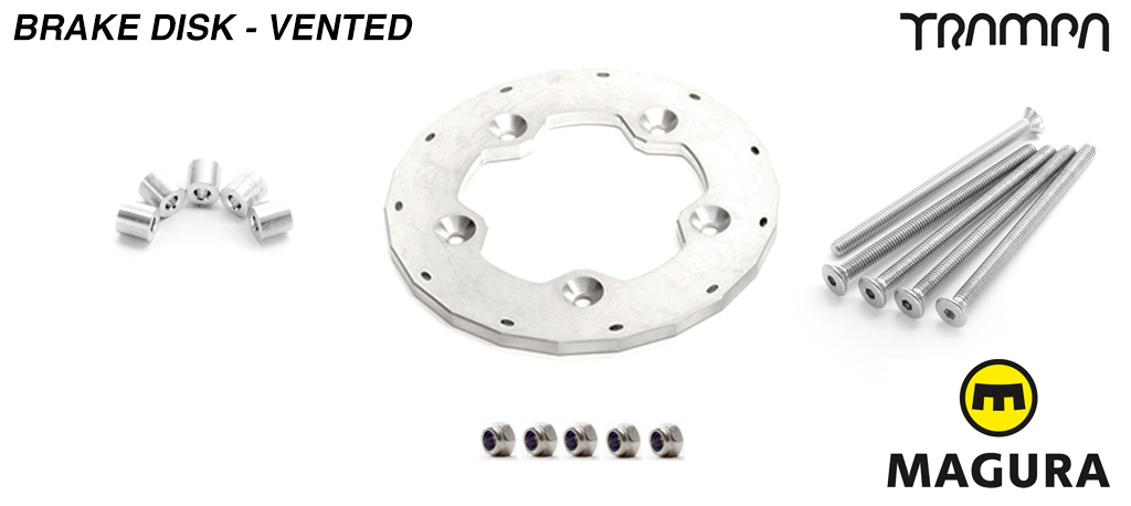 1 x VENTED Brake disk kit fit to the SUPERSTAR wheel