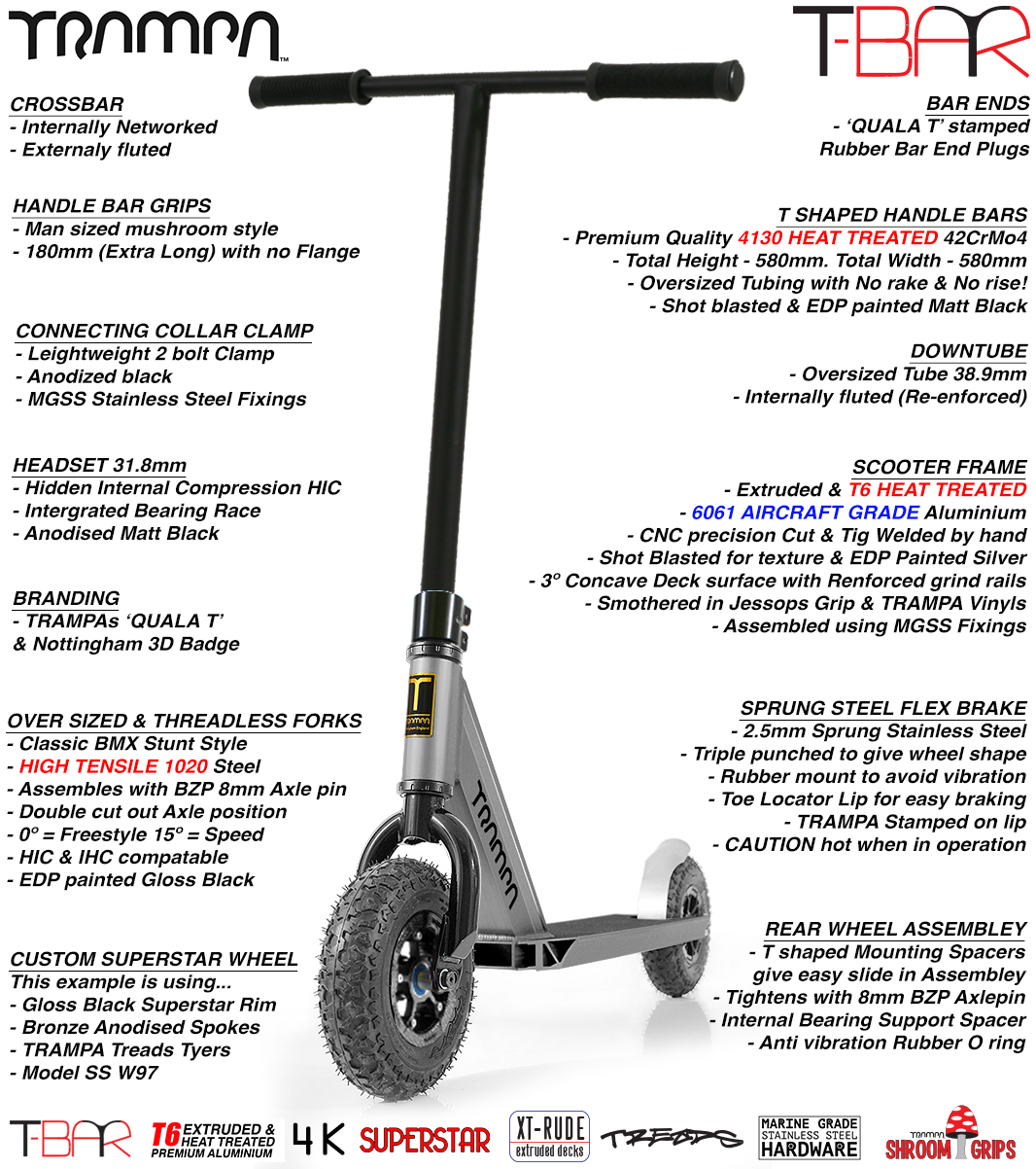 T Bar Scooter with Hi Tensile Forks