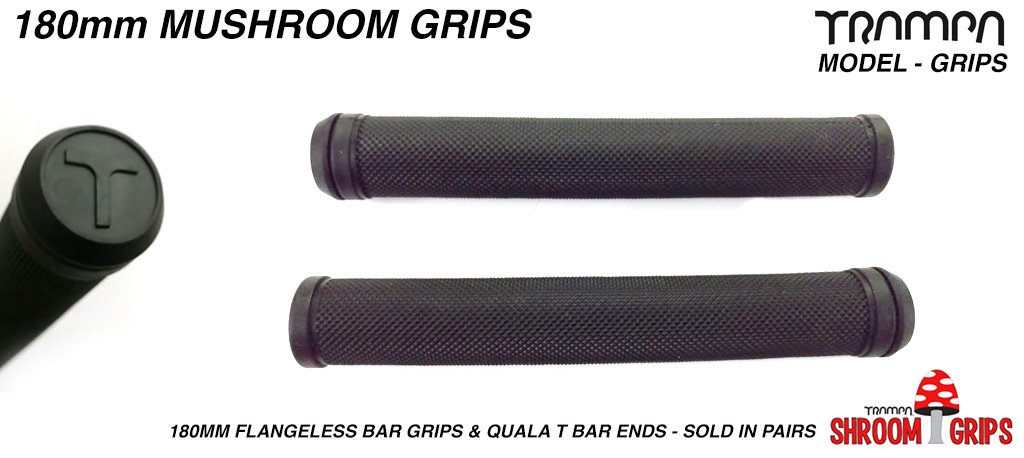 180mm Flangeless Bar Grips & QUALA T Bar ends - Sold in pairs