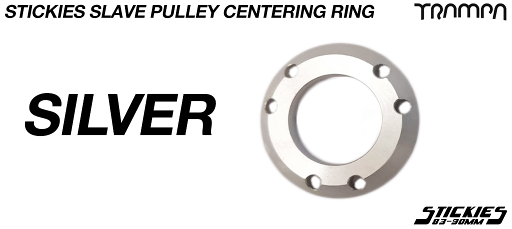 Silver Centering Ring for 33 or 37 tooth Longboard wheel pulley