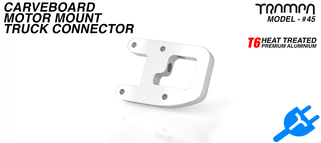 Street Carver Truck Motor mounting panel Connector - T6 Aluminum CNC'd to fit Regular or Goofy Motor mount Panels