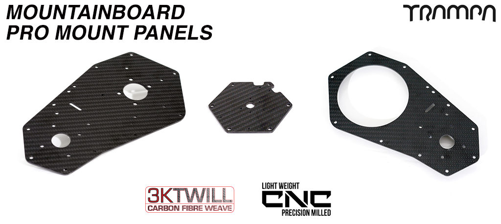 Mountainboard Motormount Outer Side panel 3k Twill Carbon Fibre #2o