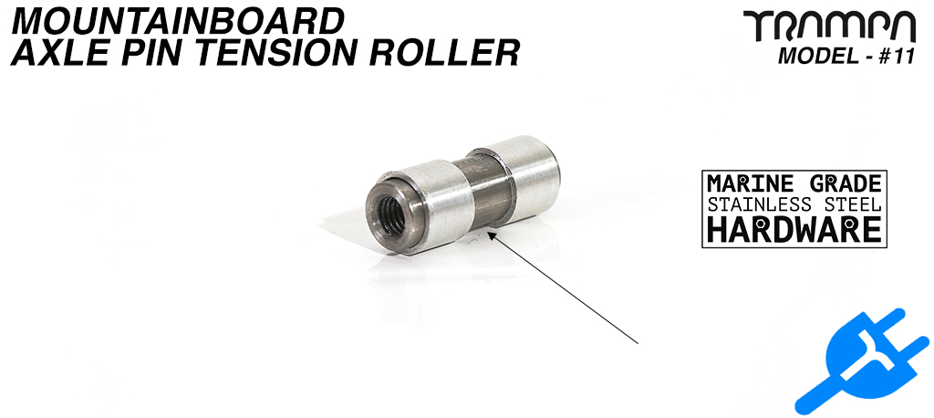 Mountainboard Tension Roller Axle Pin