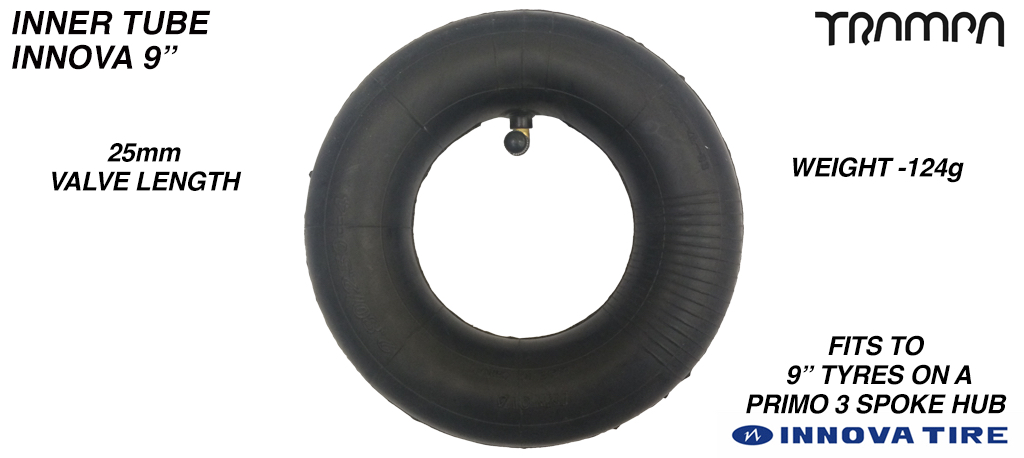 9 Inch Re-enforced Inner Tube made by INNOVA - 225x65mm