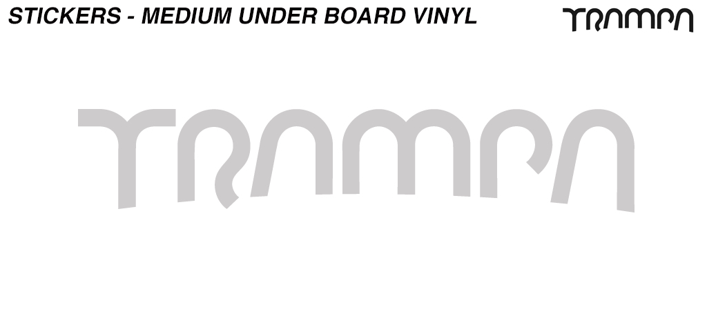 Metalic SILVER Carve Board 400mm Vinyl Sticker