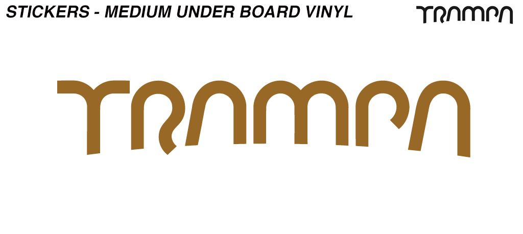 400mm Carve Board Hand made TRAMPA Vinyl Sticker - BRONZE