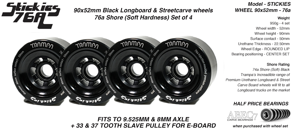 90mm BLACK - 76a Sticky (+£10)