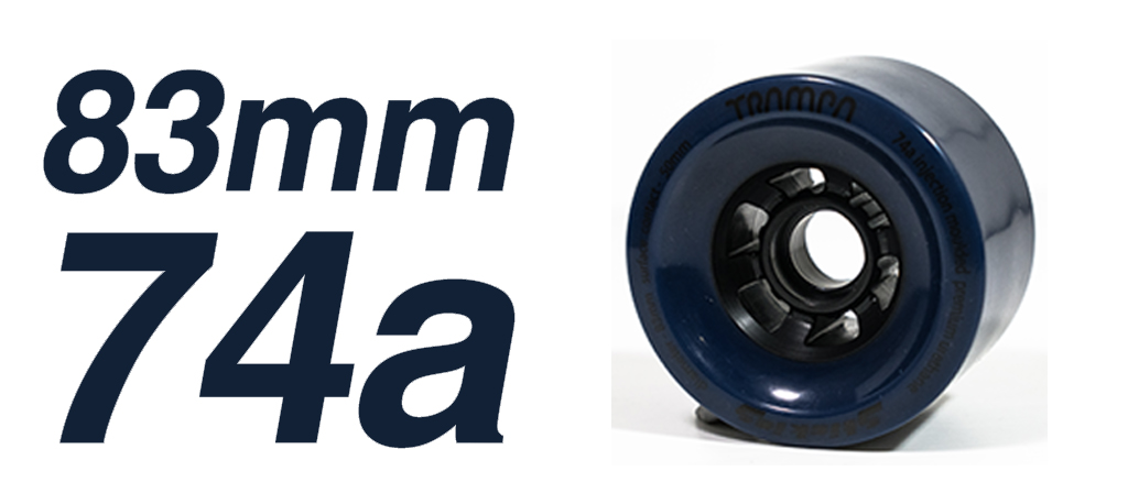 NAVY - 74a 83mm STICKIES Longboard Wheels