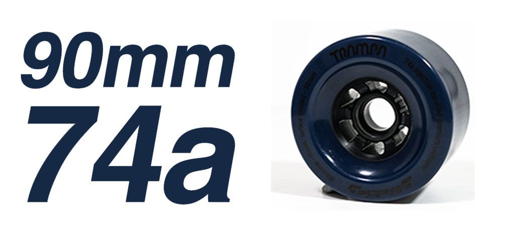 NAVY - 74a 90mm STICKIES Longboard Wheels(+£10)