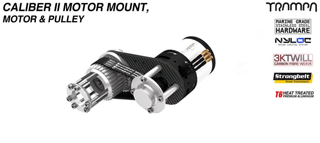 Caliber II CARBON Fiber Motormount 6364 2400kw Motor & Pulley kit