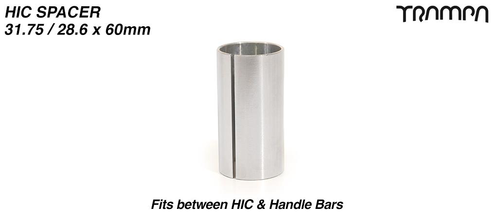 HIC Internal Handlebar Connecting sleeve 31.75 / 28.6 x 60mm