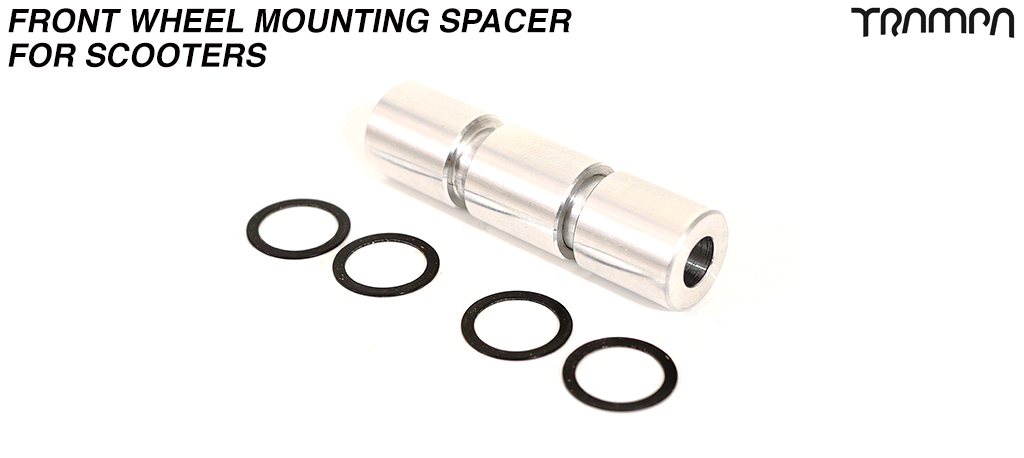 T6 Heat Treated 6061 Aluminum CNC Precision finished Front wheel mounting Spacer - Special shaped to push into the Bearing & position the wheel perfectly for rattle free riding!