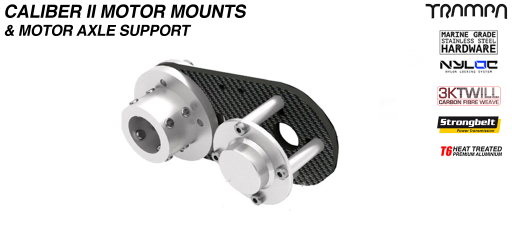 Caliber II CARBON Fiber Motormount with Axle support