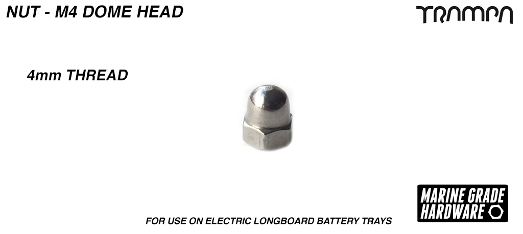 M4 Dome Head Nut - Stainless Steel