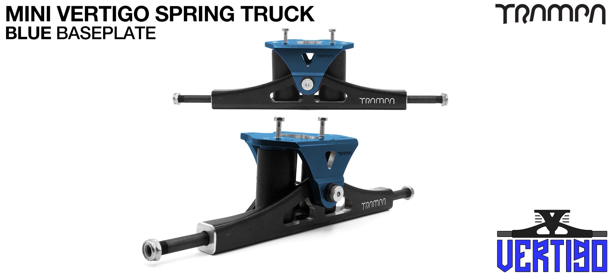 Mini VERTIGO - CNC Hanger & HOLLOW Axles - BLUE