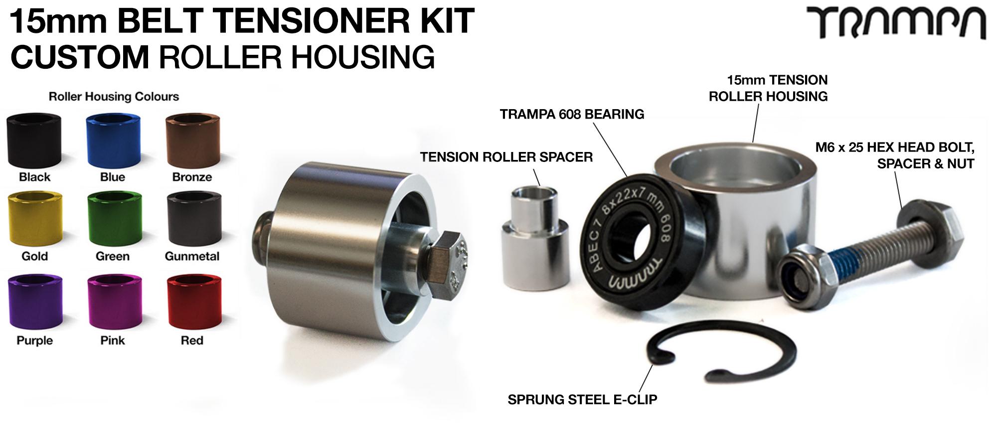 OPEN BELT DRIVE Belt Tensioning System for 15mm Belts