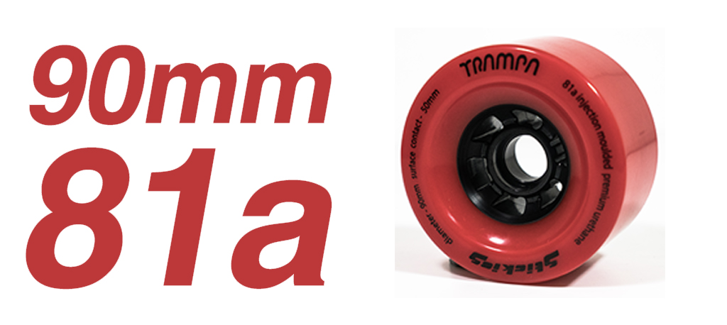 RED - 81a 90mm STICKIES Longboard Wheels(+£10)