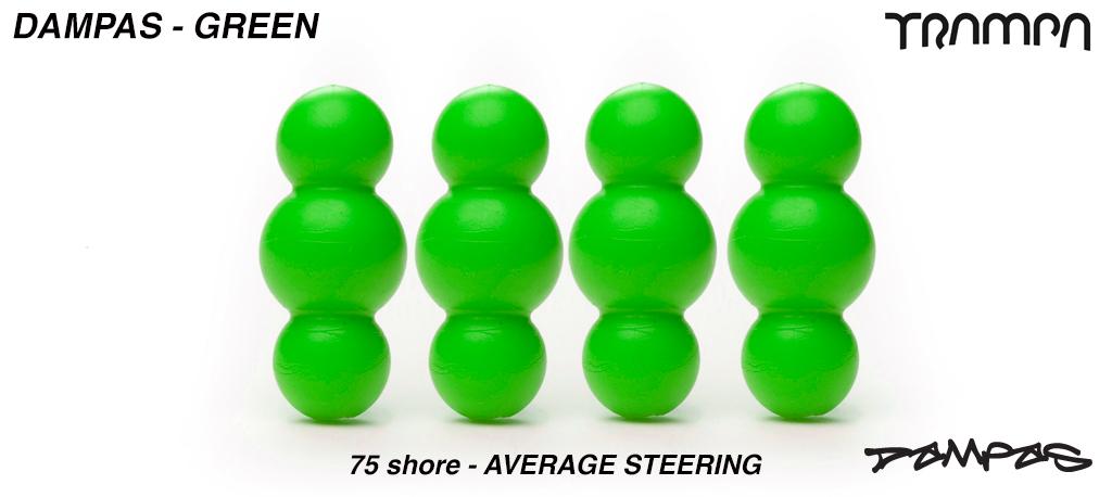 Green TRAMPA Dampa's 75 Shore - 2 Star Stiffness