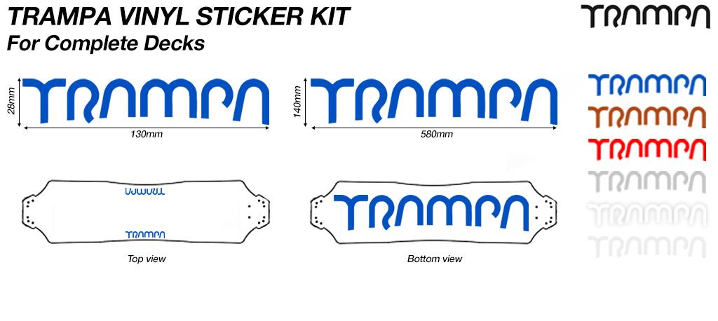 Complete Deck TRAMPA Handmade VINYL Sticker Kit