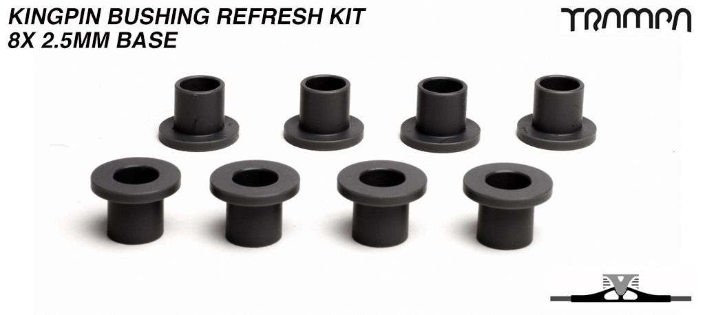 2.5mm BASE Kingpin bushings for ALL Spring Trucks x8