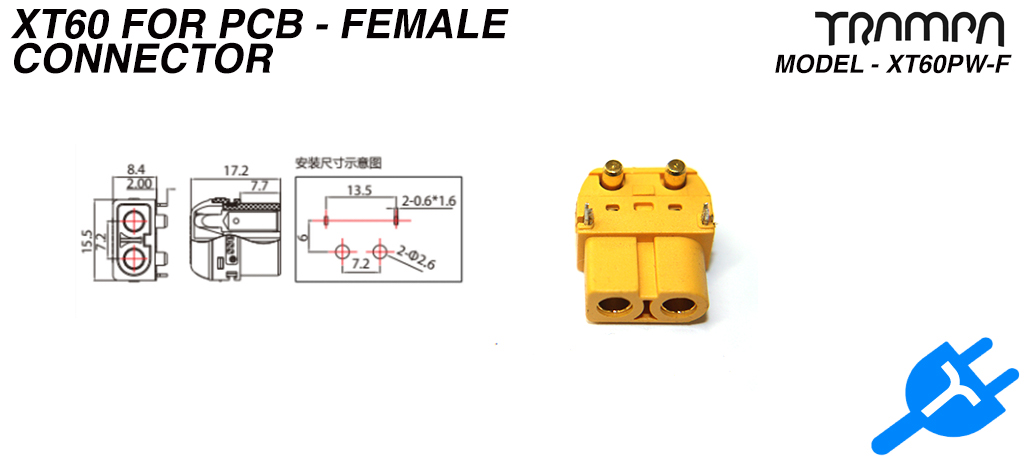 XT60 for PCB - Female
