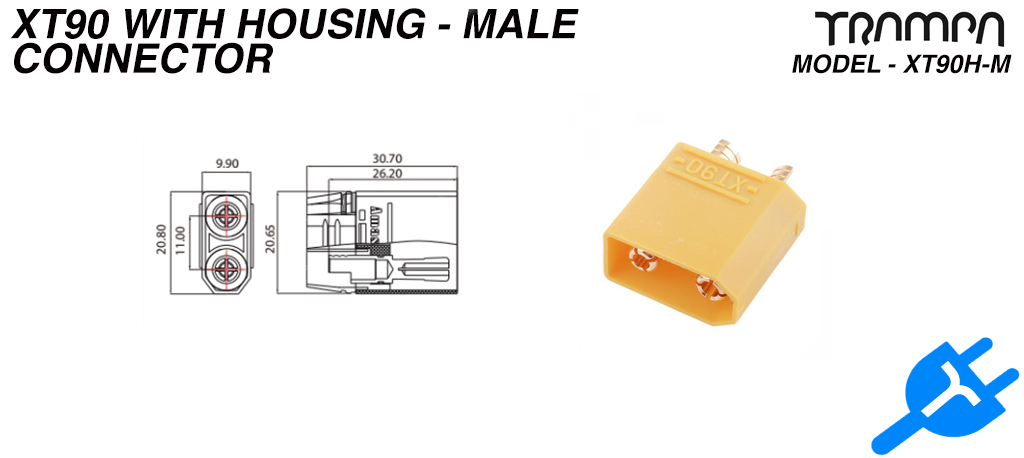 XT90H-M connector - Male