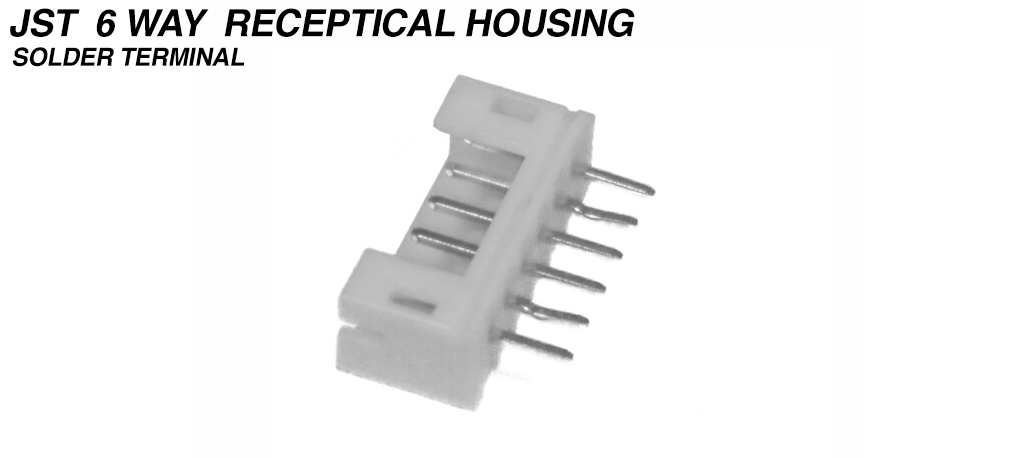 JST - 2.0mm Header Top Entry 6 Way used from Motor to VESC - MALE